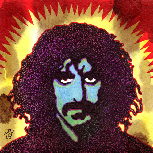 """Frank Zappa"" is copyright ©2008 by J.R. Williams.  All rights reserved.  Reproduction prohibited."