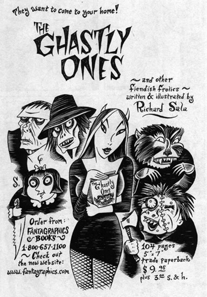 """Ghastly Ones Ad"" is copyright ©2008 by Richard Sala.  All rights reserved.  Reproduction prohibited."