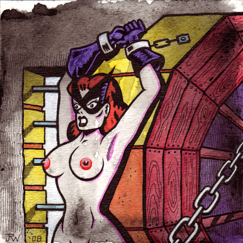 """Bondage Girl No. 3"" is copyright ©2008 by J.R. Williams.  All rights reserved.  Reproduction prohibited."