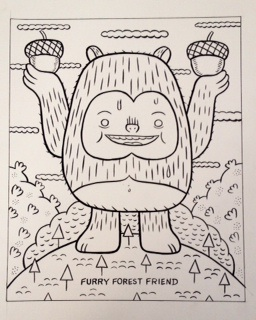 """The Furry Forest Dweller (Sugar Booger)"" is copyright ©2008 by Kevin Scalzo.  All rights reserved.  Reproduction prohibited."