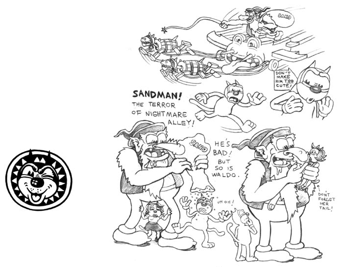 """'Boulevard' model sheet D"" is copyright ©2008 by Kim Deitch.  All rights reserved.  Reproduction prohibited."