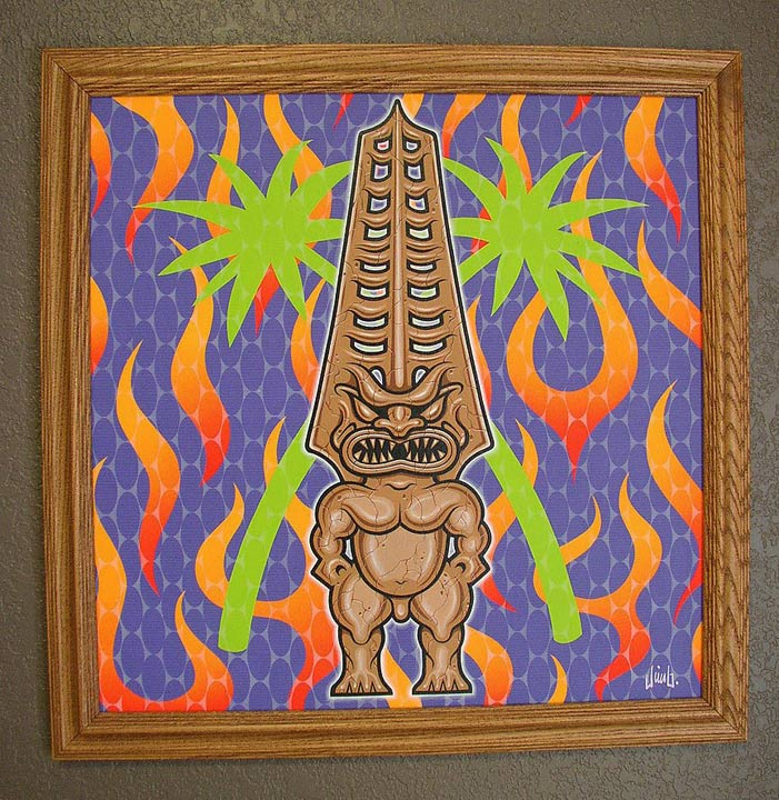 """TECHNO TIKI PAINTING"" is copyright ©2008 by Jim Blanchard.  All rights reserved.  Reproduction prohibited."