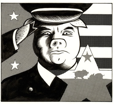 """John Travolta = Pig"" is copyright ©2008 by Eric Reynolds.  All rights reserved.  Reproduction prohibited."