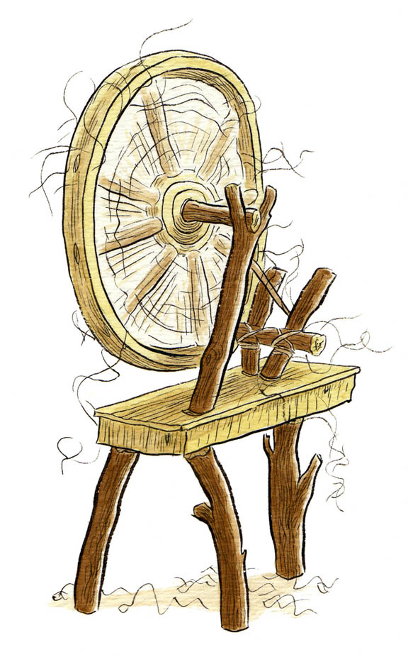 """FAIRY TALE ICON - THE SPINNING WHEEL"" is copyright ©2008 by Jeremy Eaton.  All rights reserved.  Reproduction prohibited."