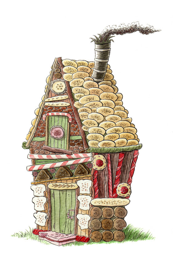 """FAIRY TALE ICON - THE GINGERBREAD HOUSE"" is copyright ©2008 by Jeremy Eaton.  All rights reserved.  Reproduction prohibited."