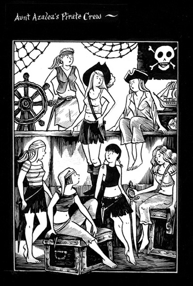 """Mad Night: Pirate Girls Portrait"" is copyright ©2008 by Richard Sala.  All rights reserved.  Reproduction prohibited."