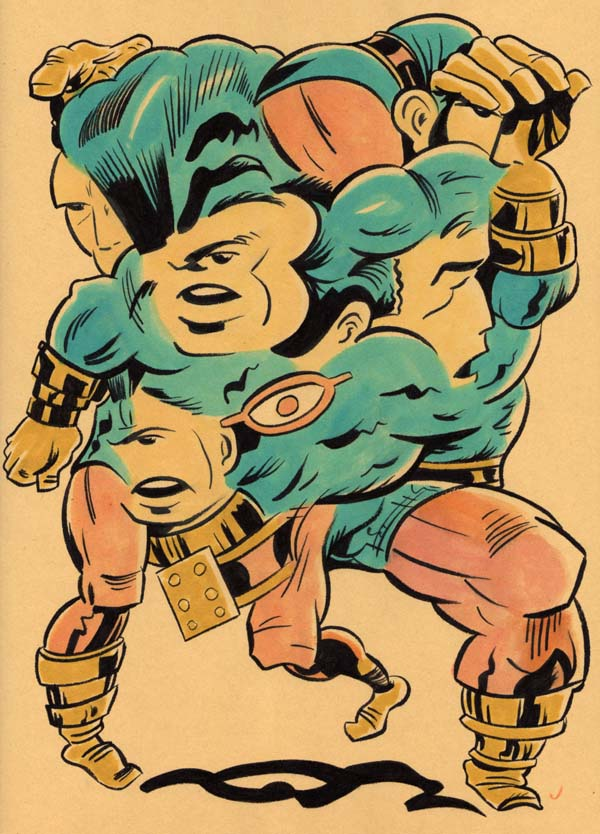 """TRANSMUTATIVE OMAC!"" is copyright ©2008 by Jeremy Eaton.  All rights reserved.  Reproduction prohibited."