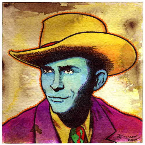"""Hank Williams"" is copyright ©2008 by J.R. Williams.  All rights reserved.  Reproduction prohibited."