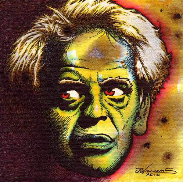 """Klaus Kinski"" is copyright ©2008 by J.R. Williams.  All rights reserved.  Reproduction prohibited."