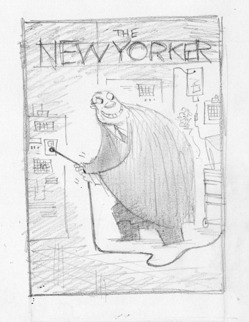 """New Yorker - Pulling The Plug"" is copyright ©2008 by Bob Staake.  All rights reserved.  Reproduction prohibited."