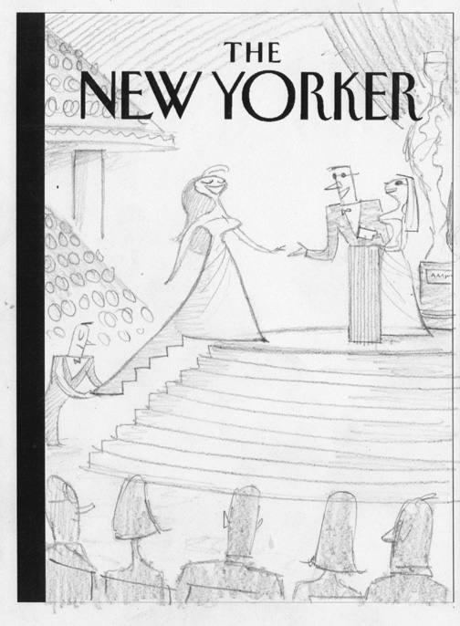 """New Yorker - Oscar Night"" is copyright ©2008 by Bob Staake.  All rights reserved.  Reproduction prohibited."