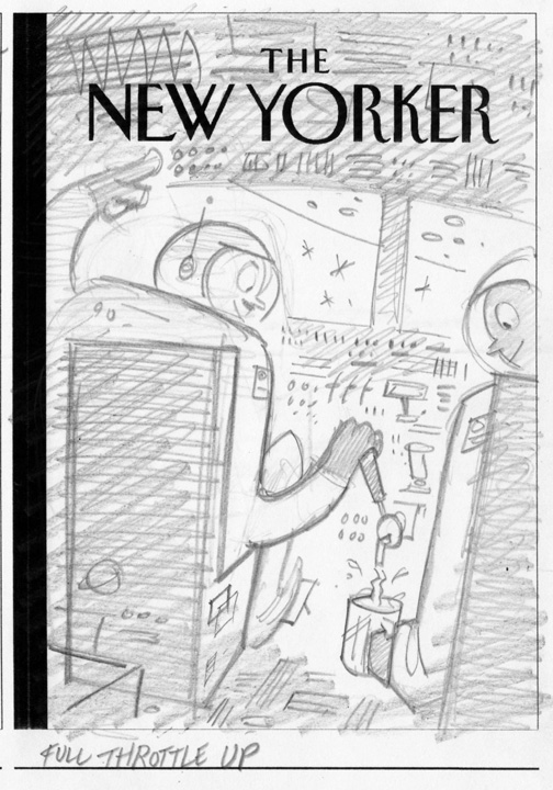 """New Yorker - NASA Throttle Up"" is copyright ©2008 by Bob Staake.  All rights reserved.  Reproduction prohibited."