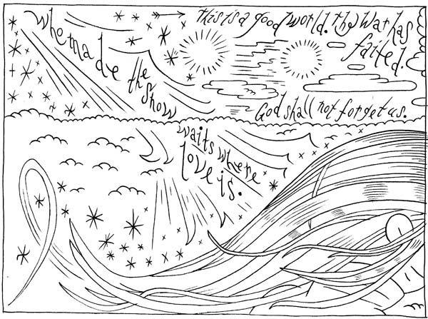 """KENNETH PATCHEN - panel 2"" is copyright ©2008 by Ron Regé, Jr..  All rights reserved.  Reproduction prohibited."