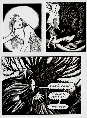 """Peculia & The Groon Grove Vampires pg 6"" is copyright ©2008 by Richard Sala.  All rights reserved.  Reproduction prohibited."