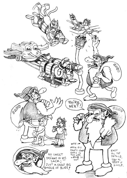 """'Boulevard' model sheet B"" is copyright ©2008 by Kim Deitch.  All rights reserved.  Reproduction prohibited."