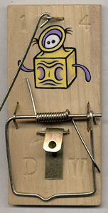 """painted mousetrap #14"" is copyright ©2008 by Dennis Worden.  All rights reserved.  Reproduction prohibited."