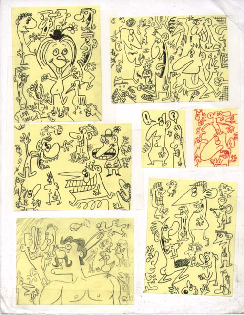 """Post-It Doodles 2"" is copyright ©2008 by Sam Henderson.  All rights reserved.  Reproduction prohibited."