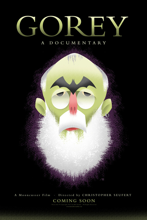"""GOREY - A Documentary: Poster by Bob Staake"" is copyright ©2008 by Bob Staake.  All rights reserved.  Reproduction prohibited."