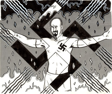 """Ed Norton from American History X"" is copyright ©2008 by Eric Reynolds.  All rights reserved.  Reproduction prohibited."