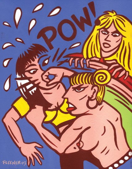 """Acrylic Painting - POW!"" is copyright ©2008 by Mary Fleener.  All rights reserved.  Reproduction prohibited."