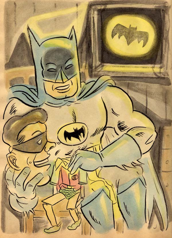 """BATMAN & ROBIN VENTRILOQUIST"" is copyright ©2008 by Jeremy Eaton.  All rights reserved.  Reproduction prohibited."