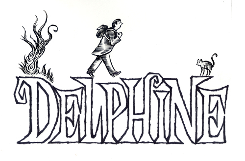 """Delphine 1 - Title Page"" is copyright ©2008 by Richard Sala.  All rights reserved.  Reproduction prohibited."