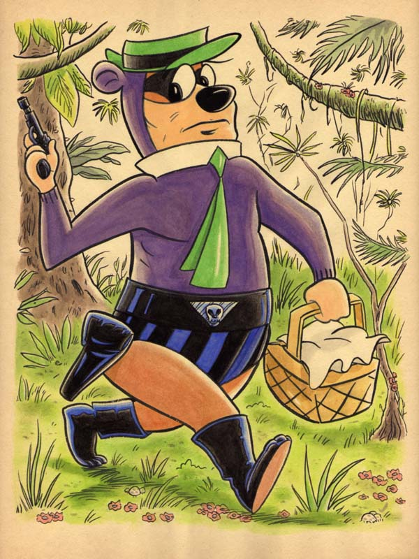 """CARTOON JUMBLE! YOGI BEAR & THE PHANTOM"" is copyright ©2008 by Jeremy Eaton.  All rights reserved.  Reproduction prohibited."