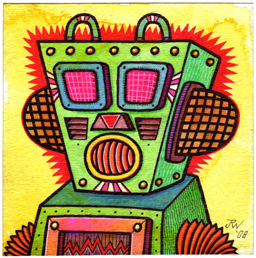 """Radar Robot"" is copyright ©2008 by J.R. Williams.  All rights reserved.  Reproduction prohibited."