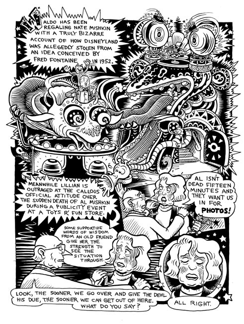 """Waldo World recap page"" is copyright ©2008 by Kim Deitch.  All rights reserved.  Reproduction prohibited."