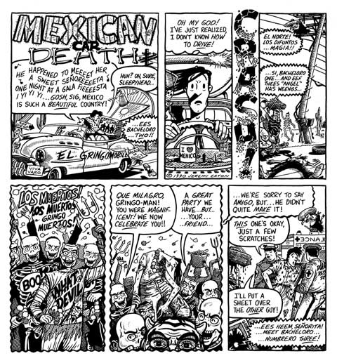 """A SLEEPYHEAD TALE - MEXICAN CAR DEATH"" is copyright ©2008 by Jeremy Eaton.  All rights reserved.  Reproduction prohibited."