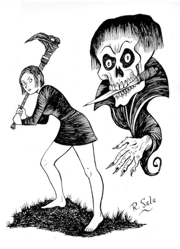 """Ghouls and Girls #4"" is copyright ©2008 by Richard Sala.  All rights reserved.  Reproduction prohibited."