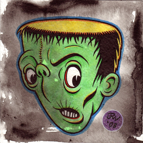 """Briefer's Frankenstein"" is copyright ©2008 by J.R. Williams.  All rights reserved.  Reproduction prohibited."