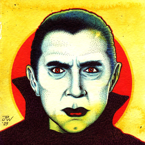 """Bela Lugosi"" is copyright ©2008 by J.R. Williams.  All rights reserved.  Reproduction prohibited."