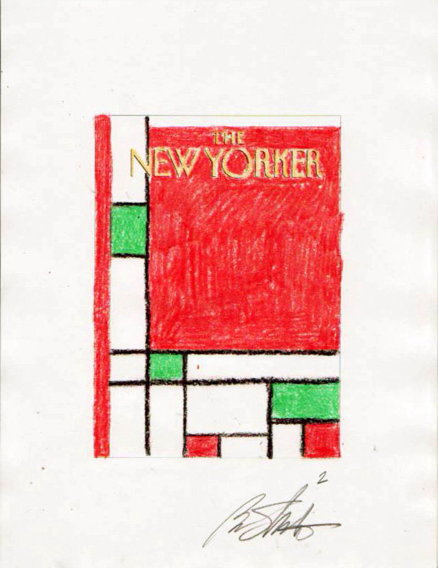 """New Yorker Color Sketch 'Minimalist Christmas'"" is copyright ©2008 by Bob Staake.  All rights reserved.  Reproduction prohibited."