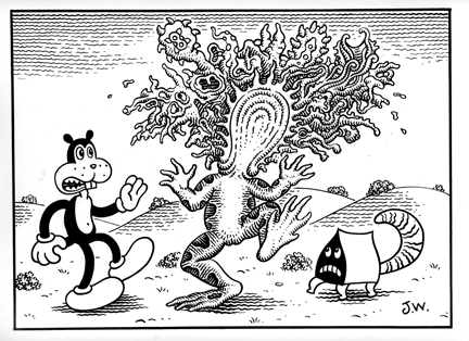 """OUTBURST"" is copyright ©2008 by Jim Woodring.  All rights reserved.  Reproduction prohibited."
