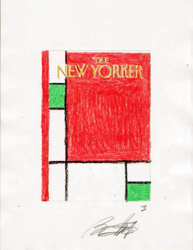 """New Yorker Cover Sketch (#3) 'Minimalist Christmas"" is copyright ©2008 by Bob Staake.  All rights reserved.  Reproduction prohibited."