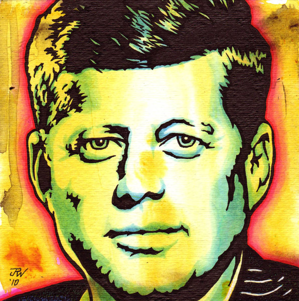 """JFK"" is copyright ©2008 by J.R. Williams.  All rights reserved.  Reproduction prohibited."