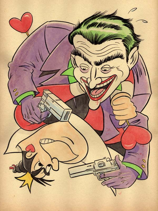 """CARTOON JUMBLE! THE JOKER & THE QUEEN OF HEARTS!"" is copyright ©2008 by Jeremy Eaton.  All rights reserved.  Reproduction prohibited."