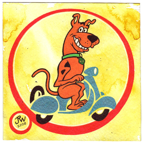 """Scooby Scooter"" is copyright ©2008 by J.R. Williams.  All rights reserved.  Reproduction prohibited."