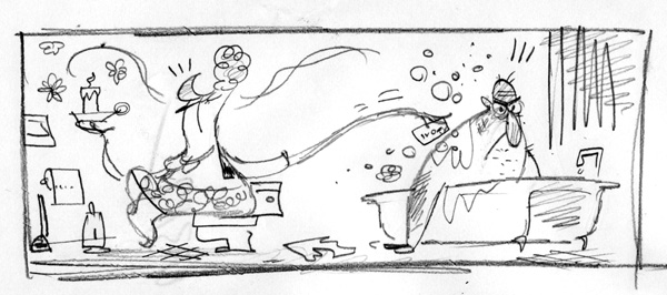 """Washington Post Rough Sketch - Style Invitational"" is copyright ©2008 by Bob Staake.  All rights reserved.  Reproduction prohibited."
