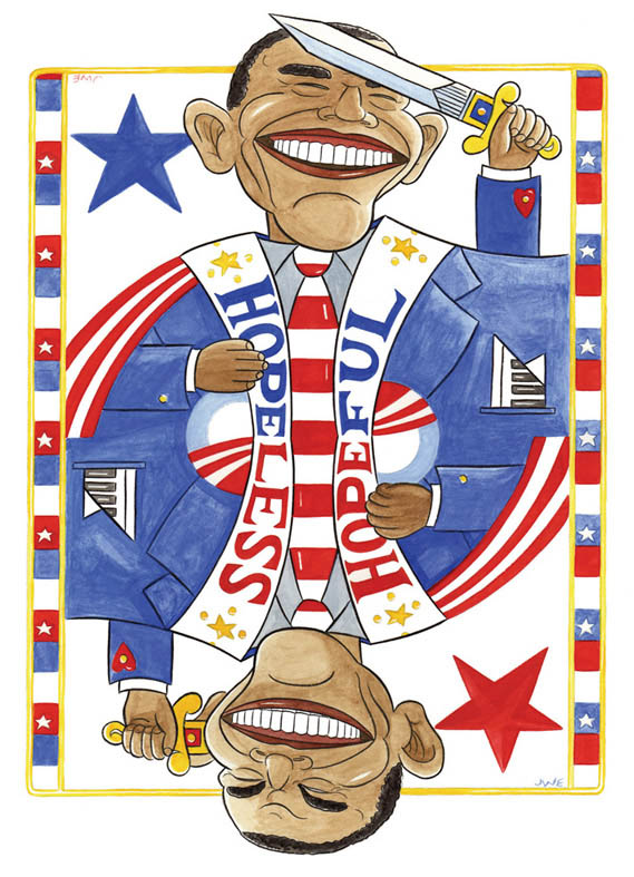 """BARACK OBAMA, PORTLAND MERCURY COVER"" is copyright ©2008 by Jeremy Eaton.  All rights reserved.  Reproduction prohibited."