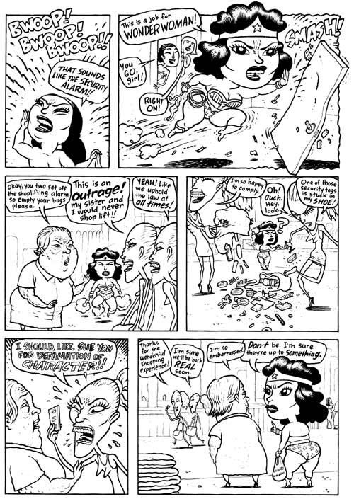 """Wonder Woman p. 4"" is copyright ©2008 by Dave Cooper.  All rights reserved.  Reproduction prohibited."