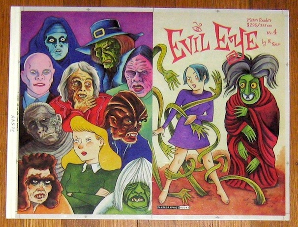 """Evil Eye #4 - Cover Proof"" is copyright ©2008 by Richard Sala.  All rights reserved.  Reproduction prohibited."