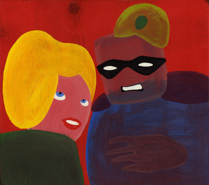 """MYSTERY MAN AND THE BLONDE (LARGER VIEW)"" is copyright ©2008 by Jeremy Eaton.  All rights reserved.  Reproduction prohibited."
