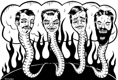 """STRANGER ILLO - The Hot Snakes"" is copyright ©2008 by Kevin Scalzo.  All rights reserved.  Reproduction prohibited."
