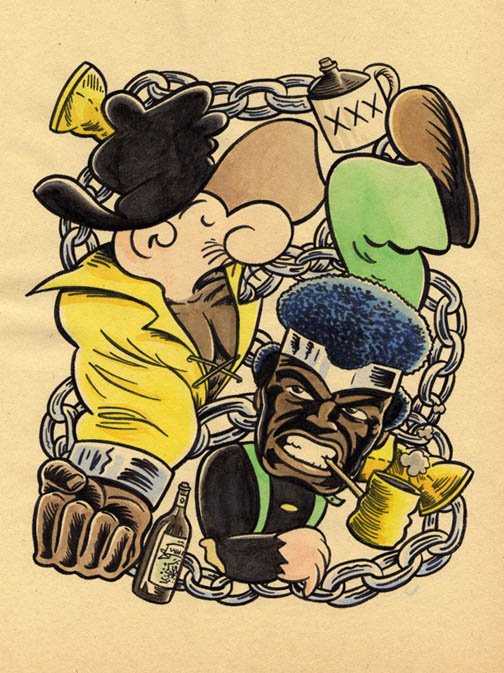 """*!!NEW JUMBLE- SNUFFY SMITH & LUKE CAGE"" is copyright ©2008 by Jeremy Eaton.  All rights reserved.  Reproduction prohibited."