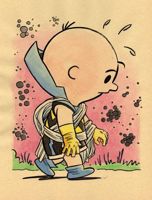 """*!!NEW JUMBLE- CHARLIE BROWN & THE WATCHER"" is copyright ©2008 by Jeremy Eaton.  All rights reserved.  Reproduction prohibited."
