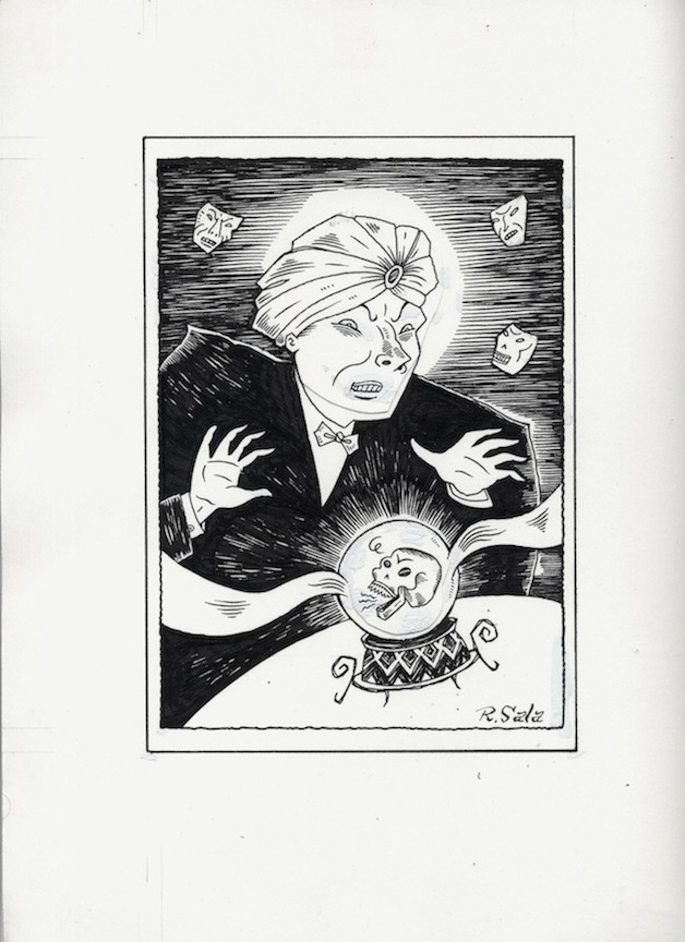 """Hypnotic Tales BookPlate art"" is copyright ©2008 by Richard Sala.  All rights reserved.  Reproduction prohibited."
