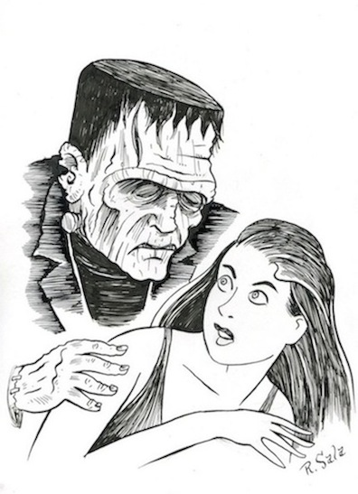 """Frankenstein Returns"" is copyright ©2008 by Richard Sala.  All rights reserved.  Reproduction prohibited."