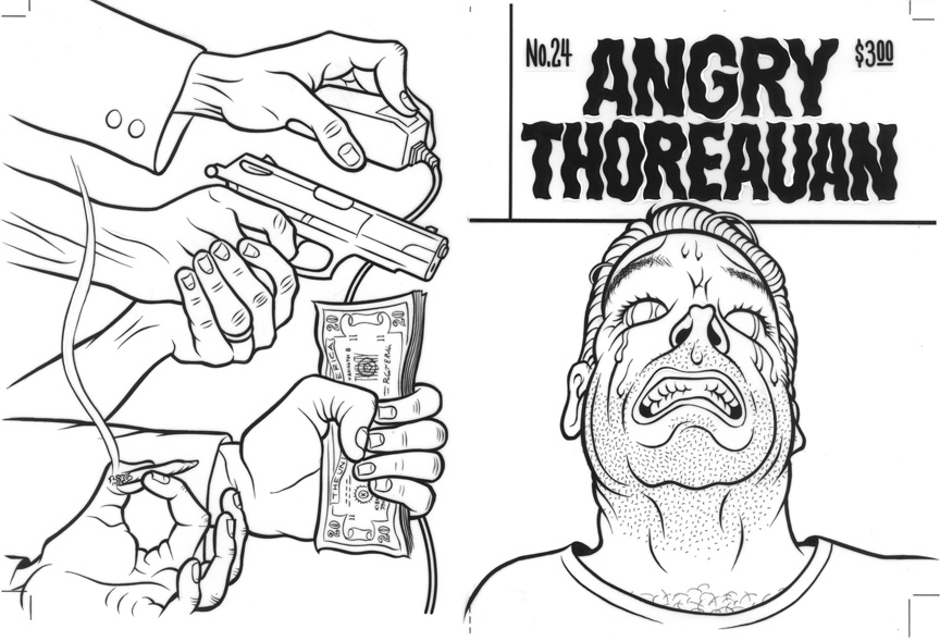 """ANGRY THOREAUAN #24 COVER ART"" is copyright ©2008 by Jim Blanchard.  All rights reserved.  Reproduction prohibited."